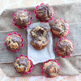 Oatmeal Banana Nutella Muffins