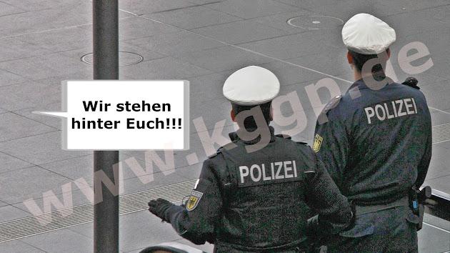 Keine Gewalt gegen Polizisten