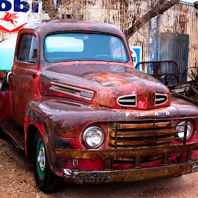 Old Ford truck by Jorge Villalba - Transportation Automobiles ( gas, old, hdr, station, truck, ford )