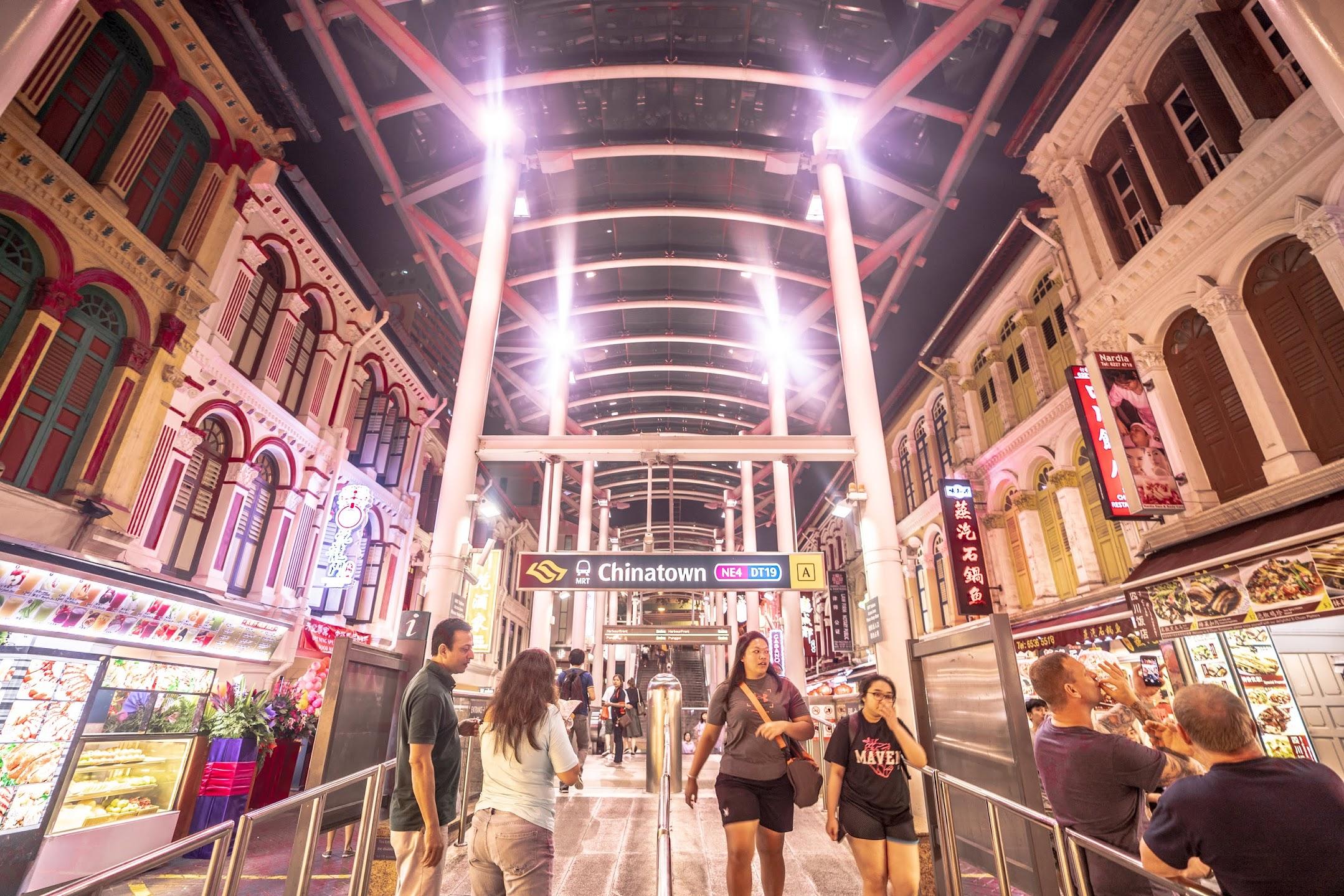 シンガポール チャイナタウン駅1