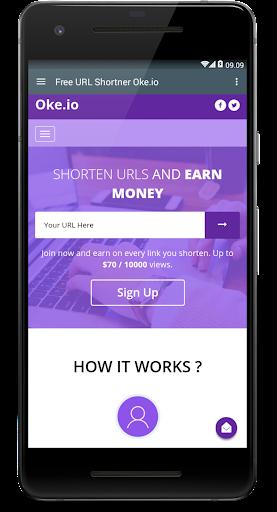 Oke.io - Shorten Urls and Earn Money! 1.0 screenshots 2