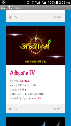 Live TV India Channels Movie
