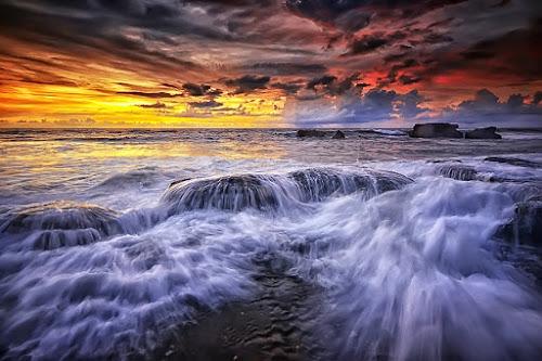 Slow it Down by Hendri Suhandi - Landscapes Waterscapes ( bali, nature, sunset, rock, sunrise, beach, landscape, sun )
