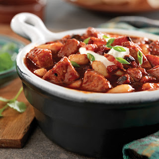 Smoky Pork, Bacon, and White Bean Chili Recipe