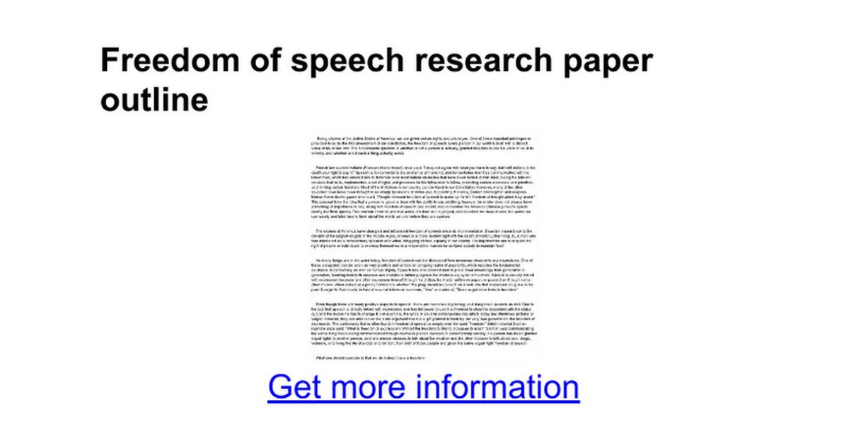 freedom of speech 7 essay