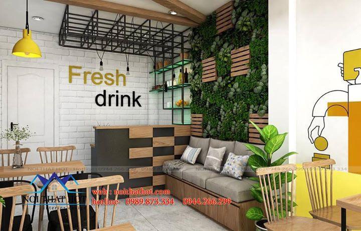 thiết kế quán nước ép hoa quả tại hà nội
