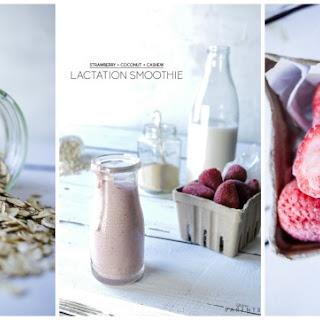 Strawberry Coconut Cashew Lactation Smoothie.