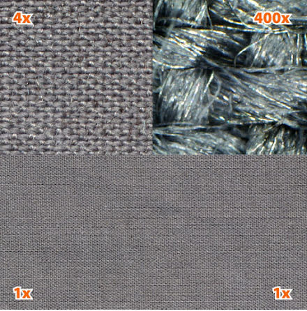 Steel-Gray tyg med stål
