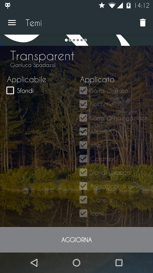 Transparent - CM12/12.1 Theme - screenshot