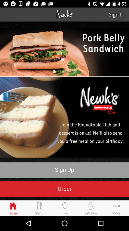 Newk's Eatery- screenshot