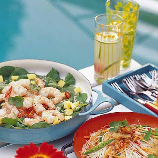 Prawn Salad With Lime and Honey Dressing.