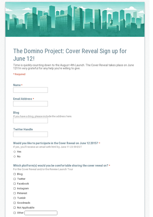 The Domino Project: Cover Reveal Sign up for June 12!