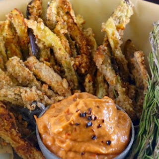 Eggplant Fries With Chipotle Aioli [Vegan, Gluten-Free]