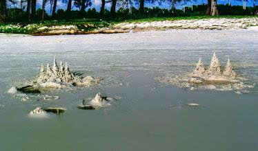 Photo: Angkor Wat sand castles