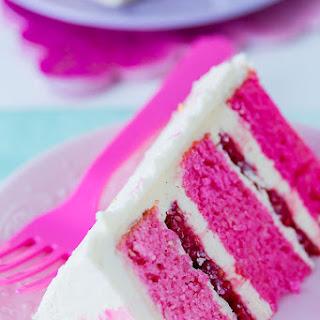 Recipe Pink & White Watercolor Cake