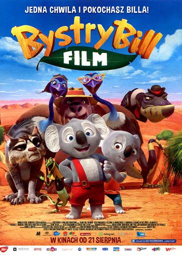 Przód ulotki filmu 'Bystry Bill'