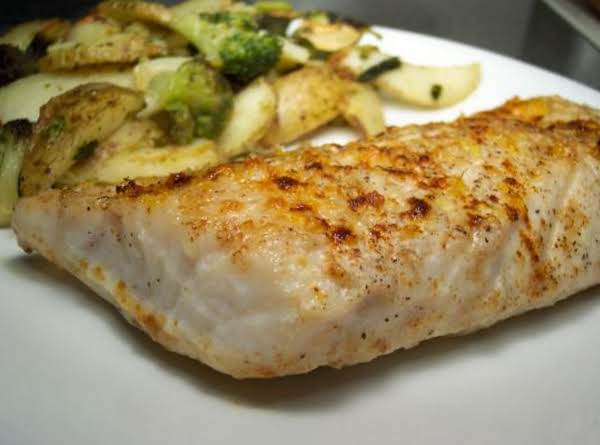 Butter Parmesan Striped Bass