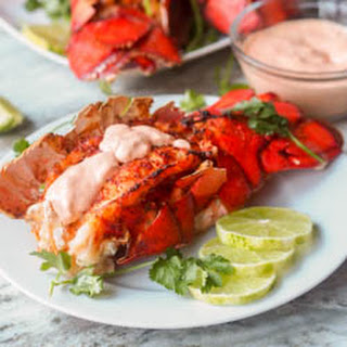 Paprika Broiled Lobster Tails with Sriracha Aioli.