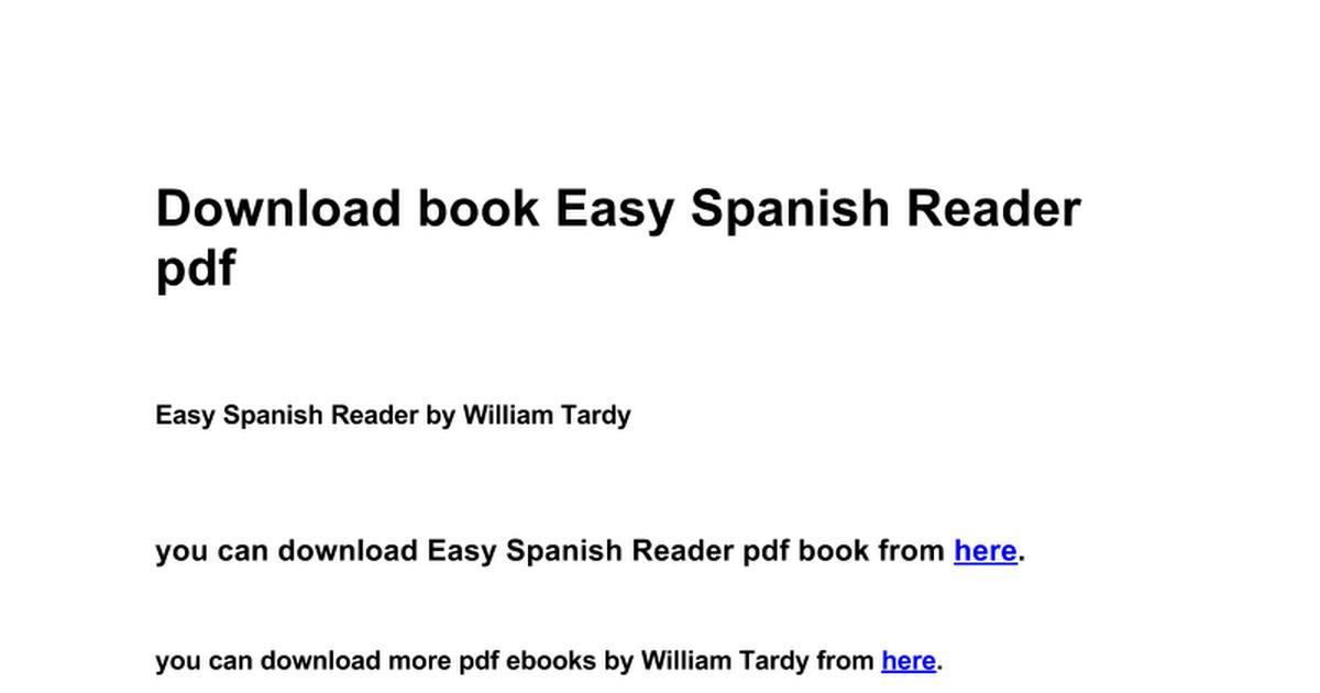 Easy spanish reader google docs fandeluxe Gallery