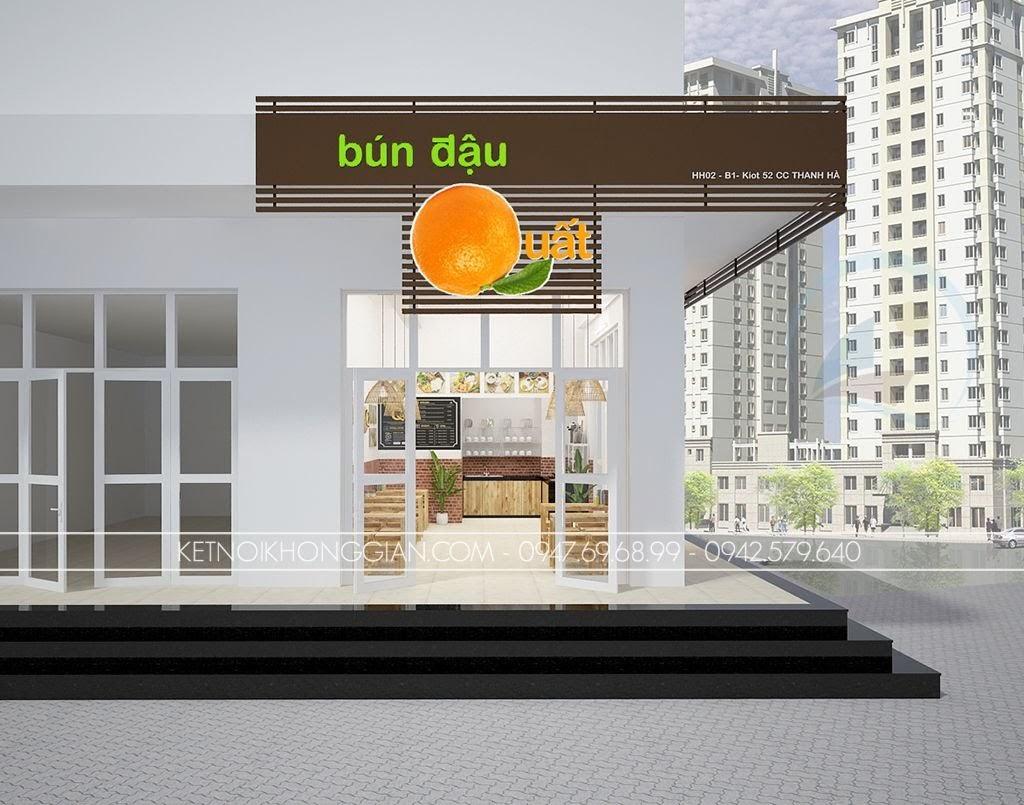 thiết kế quán bún đậu