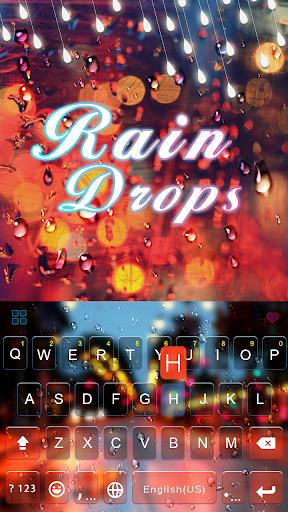 Rain Drop Emoji Keyboard Theme