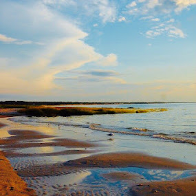 Serene Low tide  by Kathlene Moore - Landscapes Waterscapes