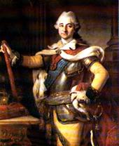 Photo: Stanislaw Poniatowski avporträtterad av Per Krafft d.ä. Förvaras i Kungliga slottets museum i Warszawa. 64kB. Public domain-foto enl. Wikimedia commons.