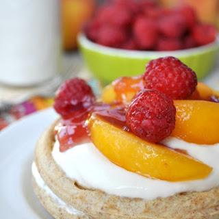 Healthy Peach Melba Breakfast Shortcakes.
