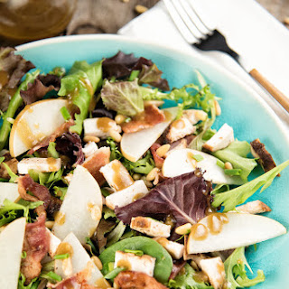 Pear, Bacon, and Chicken Salad