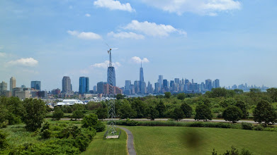Photo: Taken from an observation patio at Liberty Science Center