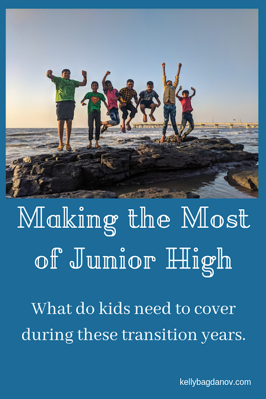 Great article that goes subject by subject covering what you need to focus on in Jr. high. #kellybagdanov #homeschooling #teachingjrhigh #classicalconversationresource #homeschoolingtips
