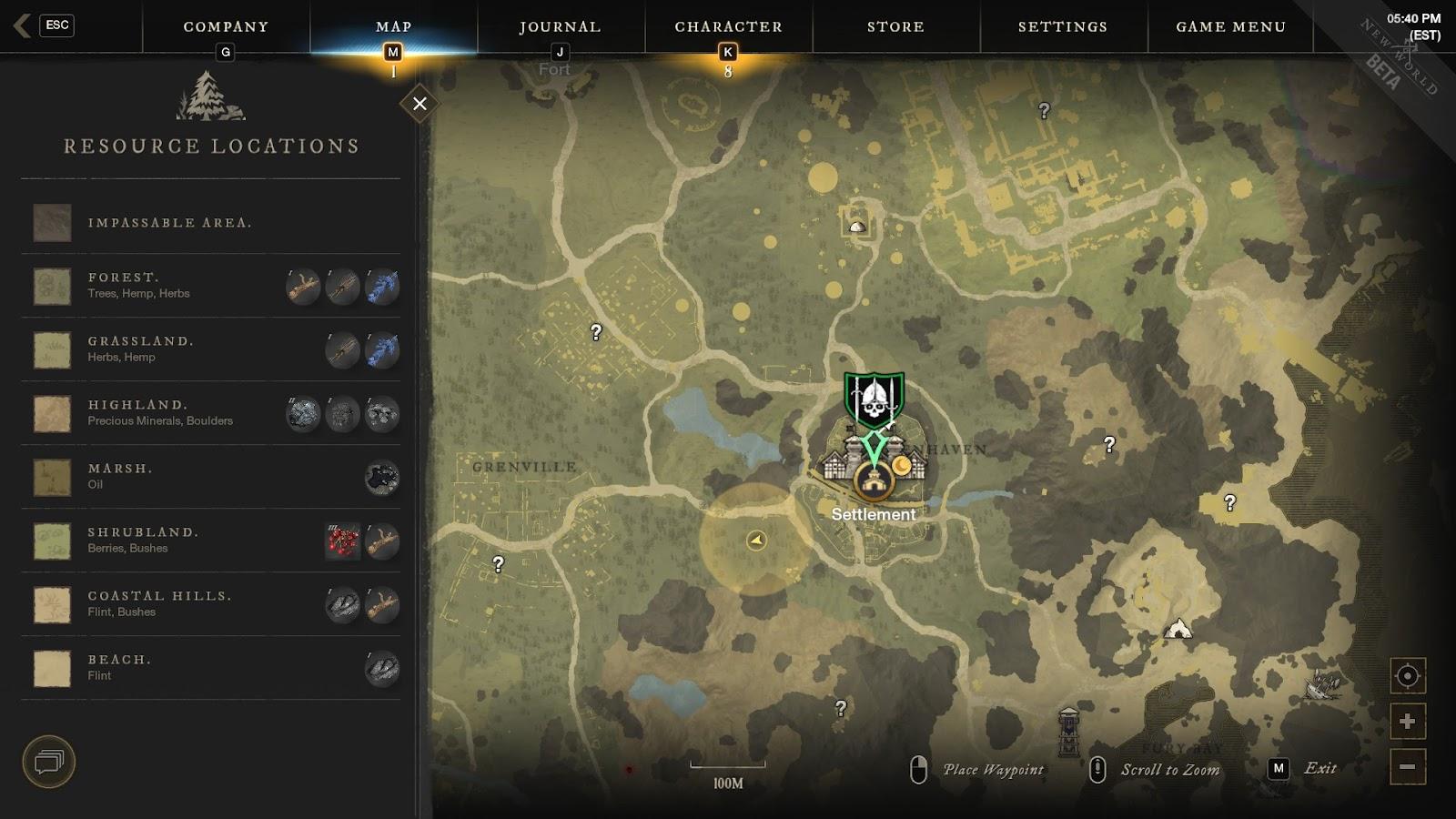 New world Resource map