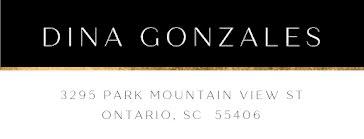 Dina Gonzales - Address Label template