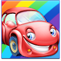 Rainbow Cars! Kids Colors Game