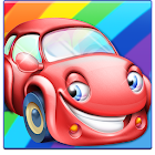 Rainbow Cars! Kids Colors Game icon
