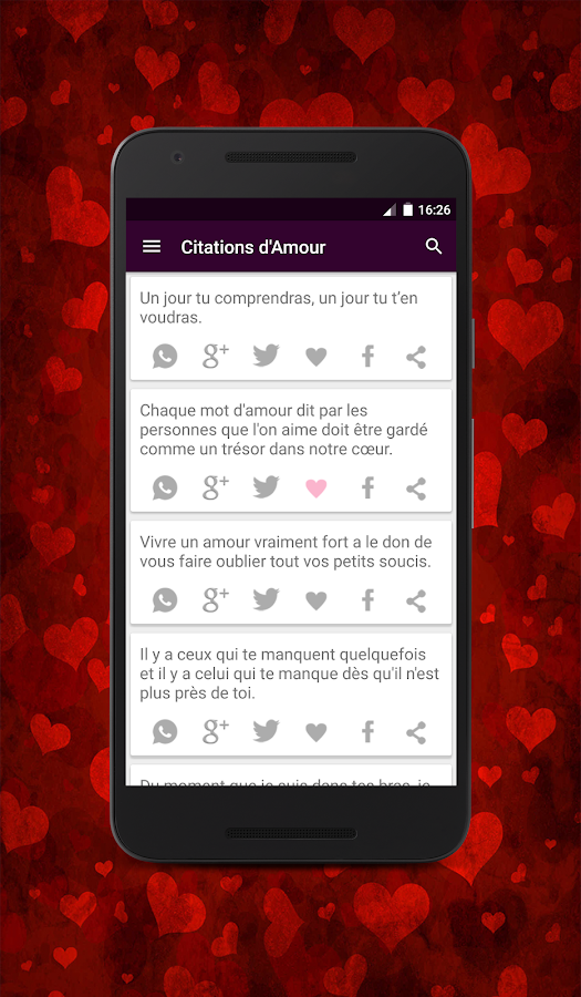 Citations d'amour- screenshot