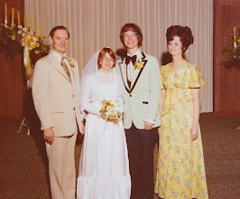 Photo: Phyllis and David with David's parents Roger and Ava Powell.