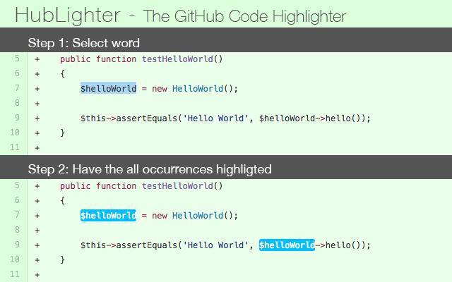 HubLighter - GitHub Code Highlighter