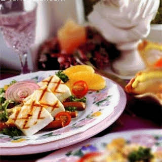 Grilled Cottage Cheese With Orange Ginger Sauce.