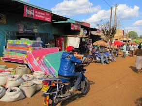 Photo: Chogoria streetscene - taxi motorbikes
