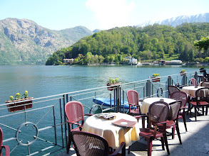 Photo: Cafe culture Lake Como Style