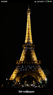 Eiffel Tower Live Wallpaper - náhled
