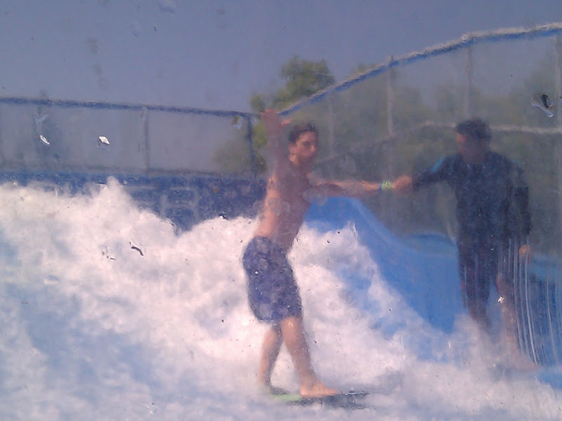 Photo: Sergey Brin in the wave pool