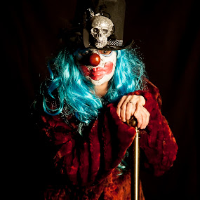 HELLO DUCKY by Russell Mander - People Portraits of Women ( halloween, woman, scary, skull )