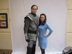 Photo: Garet & Heather SF Star Trek Con, posing for Creation Entertainment Convention Photographer Bryce Harper.