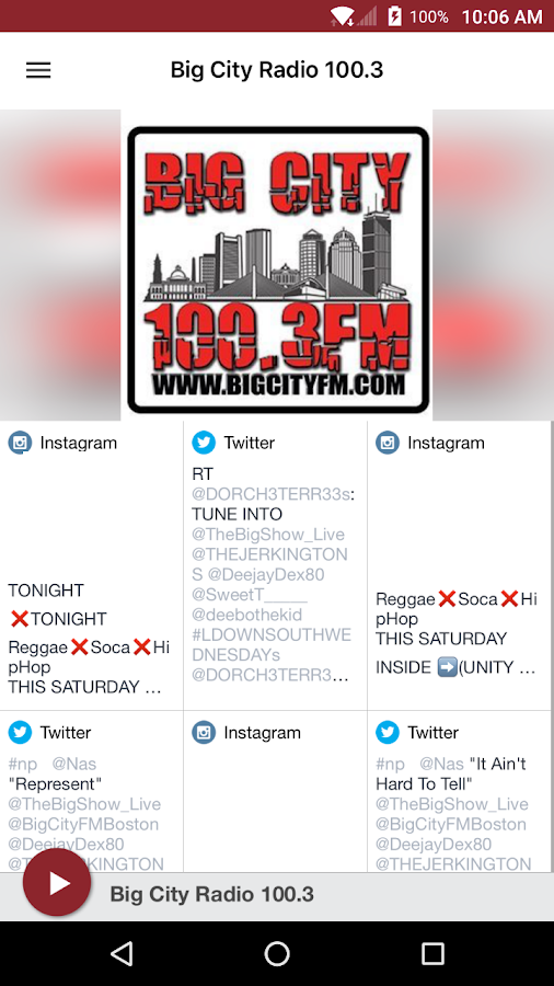 Big City Radio 100.3- screenshot