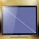 テレビ画面のサイズを調べる