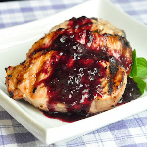 Blueberry Balsamic Pork Chops