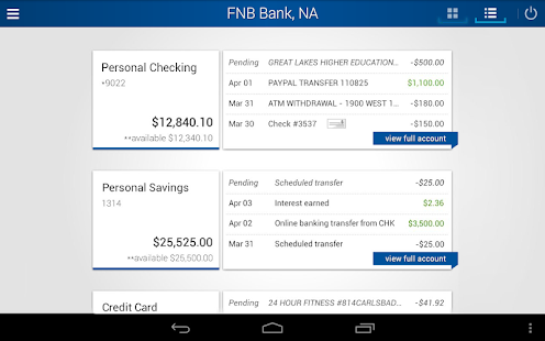 FNB Bank, N.A. Mobile Banking - screenshot thumbnail