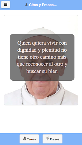 android Frases del Papa Francisco Screenshot 4